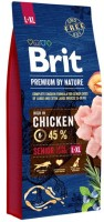 Корм для собак Brit Premium Senior L+XL 15 kg 15кг