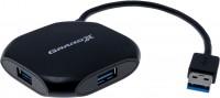 Картридер/USB-хаб Grand-X GH-415