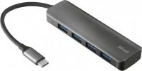 Картридер/USB-хаб Trust Halyx Aluminium USB-C to 4-Port USB-A