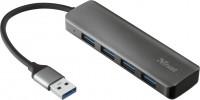 Картридер/USB-хаб Trust Halyx Aluminium 4-Port USB 3.2