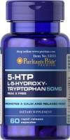 Фото - Аминокислоты Puritans Pride 5-HTP 50 mg 60 cap