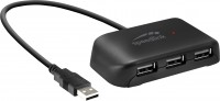 Картридер/USB-хаб Speed-Link Snappy Evo USB Hub 4 Port USB 2.0 Passive