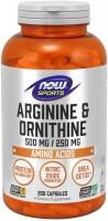 Фото - Амінокислоти Now Arginine/Ornithine 100 cap