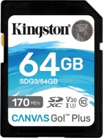 Карта памяти Kingston SDXC Canvas Go! Plus  64 ГБ