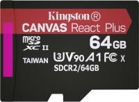 Фото - Карта памяти Kingston microSDXC Canvas React Plus  64ГБ