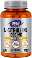 Фото - Аминокислоты Now L-Citrulline 1200 mg 120 tab