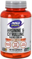 Фото - Амінокислоти Now Arginine and Citrulline Caps 120 cap