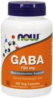 Фото - Аминокислоты Now GABA 750 mg 100 cap