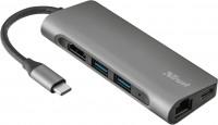 Картридер/USB-хаб Trust Dalyx Aluminium 7-in-1 USB-C Multi-port Adapter