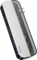 Кардридер / USB-хаб BASEUS Transparent USB-C Multifunctional HUB Adapter