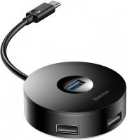 Картридер/USB-хаб BASEUS Round Box USB-C to USB 3.0 and 2xUSB 2.0