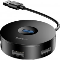 Картридер / USB-хаб BASEUS Round Box USB-A to USB 3.0 and 2xUSB 2.0