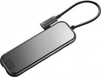 Кардридер / USB-хаб BASEUS USB-C to 3xUSB3.0+HDMI+RJ45+PD