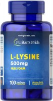 Фото - Амінокислоти Puritans Pride L-Lysine 500 mg 100 cap