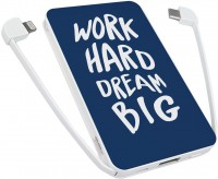 Фото - Powerbank аккумулятор ZIZ Work Hard Dream Big 5000