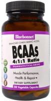 Фото - Аминокислоты Bluebonnet Nutrition BCAAs 4-1-1 Ratio 120 cap