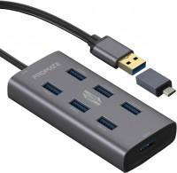 Картридер/USB-хаб Promate EzHub-7