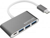 Картридер/USB-хаб Promate EzHub-C3