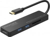 Картридер/USB-хаб Promate LinkHub-C