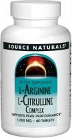 Фото - Аминокислоты Source Naturals L-Arginine L-Citrulline Complex 120 tab