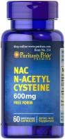 Фото - Аминокислоты Puritans Pride N-Acetyl Cysteine 600 mg 60 cap