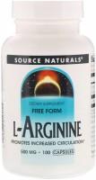 Фото - Аминокислоты Source Naturals L-Arginine 500 mg 100 cap