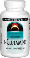 Фото - Амінокислоти Source Naturals L-Glutamine 500 mg 100 tab