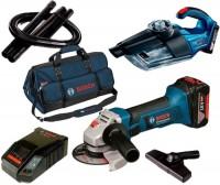 Набор электроинструмента Bosch GWS 18-125 LI Plus GAS 18V-1 Professional