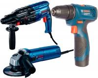 Набор электроинструмента Bosch GBH 240 Plus GWS 670 Plus GSR 120-LI Professional