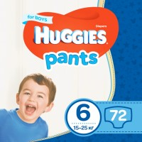 Подгузники Huggies Pants Boy 6 / 72 pcs