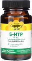 Фото - Амінокислоти Country Life 5-HTP 50 mg 50 cap