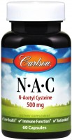 Фото - Амінокислоти Carlson Labs N-A-C 500 mg 60 cap