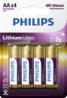 Фото - Аккумулятор / батарейка Philips Lithium Ultra  4xAA
