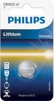 Аккумулятор / батарейка Philips 1xCR1632
