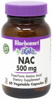 Фото - Аминокислоты Bluebonnet Nutrition NAC 500 mg 30 cap