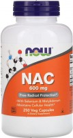 Фото - Аминокислоты Now NAC 600 mg 250 cap