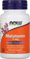 Фото - Аминокислоты Now Melatonin 3 mg 60 cap