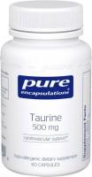 Фото - Аминокислоты Pure Encapsulations Taurine 500 mg 60 cap
