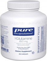 Фото - Аминокислоты Pure Encapsulations L-Glutamine 850 mg 250 cap