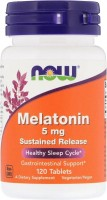 Фото - Аминокислоты Now Melatonin 5 mg 60 cap