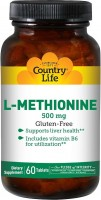 Фото - Аминокислоты Country Life L-Methionine 500 mg 60 tab