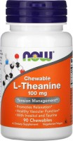Фото - Амінокислоти Now Chewable L-Theanine 100 mg 90 tab