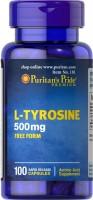 Фото - Аминокислоты Puritans Pride L-Tyrosine 500 mg 100 cap