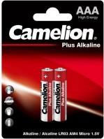 Фото - Аккумулятор / батарейка Camelion Plus  2xAAA LR03-BP2