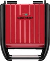 Электрогриль George Foreman Compact Steel Grill 25030-56 красный