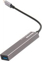 Картридер / USB-хаб Maxxter HU3C-4P-02