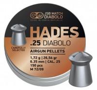 Фото - Пули и патроны JSB Hades 6.35 mm 1.72 g 150 pcs