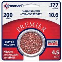 Кулі й патрони Crosman Premier Copper Magnum 4.5mm 0.69 g 200 pcs