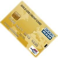 USB Flash (флешка) GOODRAM Gold USB Credit Card  16ГБ