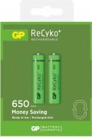 Аккумулятор / батарейка GP Recyko 2xAAA 650 mAh